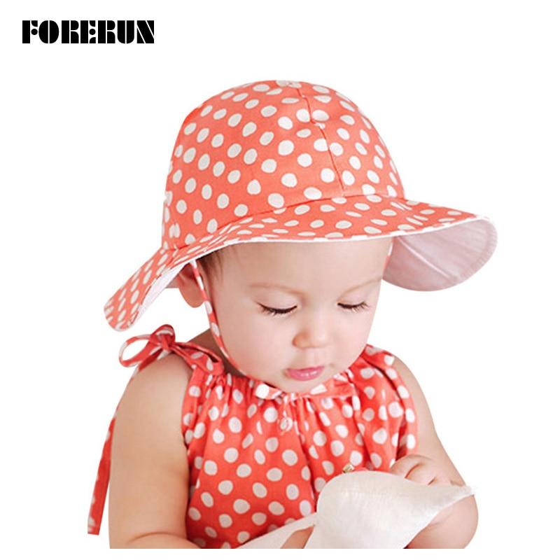 556df7f3409 2018 New Baby Hat Little Dots Print Kids Bucket Hats Soft Baby Boy Sun Hat  Summer