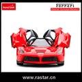 Licenciado Rastar Ferrari LaFerrari com carregamento USB 1:14 carros de controle remoto porta aberta 50160
