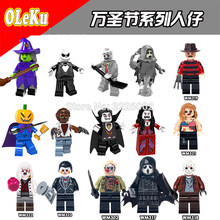 For legoing Halloween Horror Theme Grinch Hockey Guy Mask Hunter-Black Friday Jason Scream Killer building blocks Toys Figures(China)