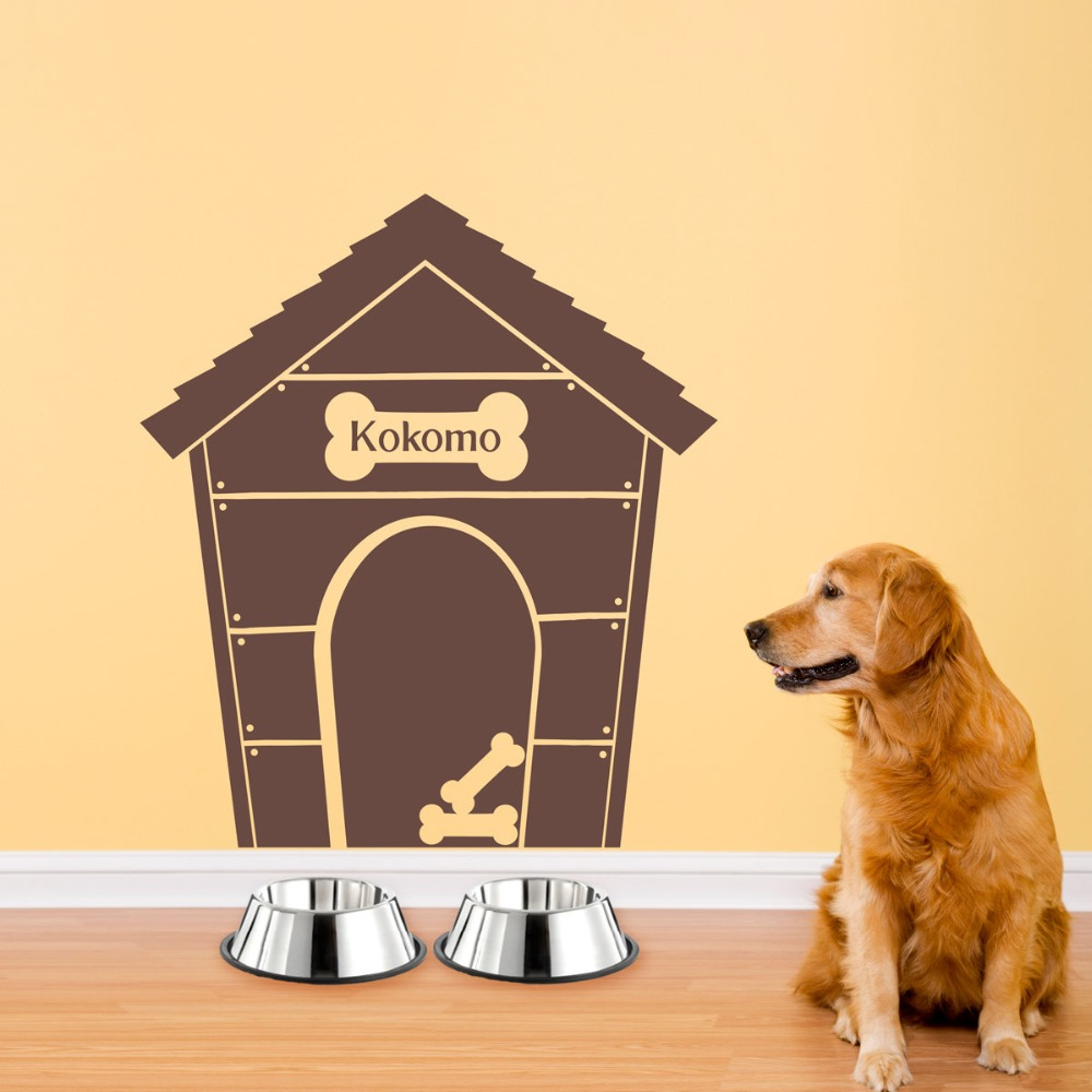 Aliexpress.com : Buy Personalized Doghouse Wall Art Home Decor Wall ...