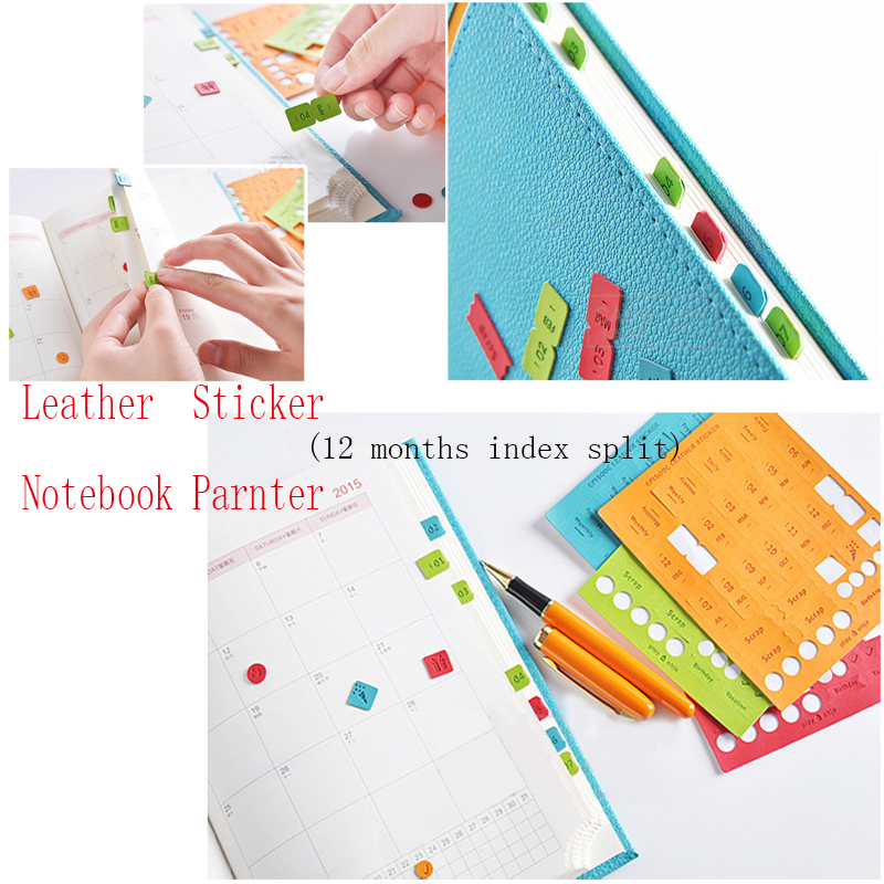 korean accessories partner  month separated paste affixed diy expression notebook diary planner leather scrapbook digit sticker