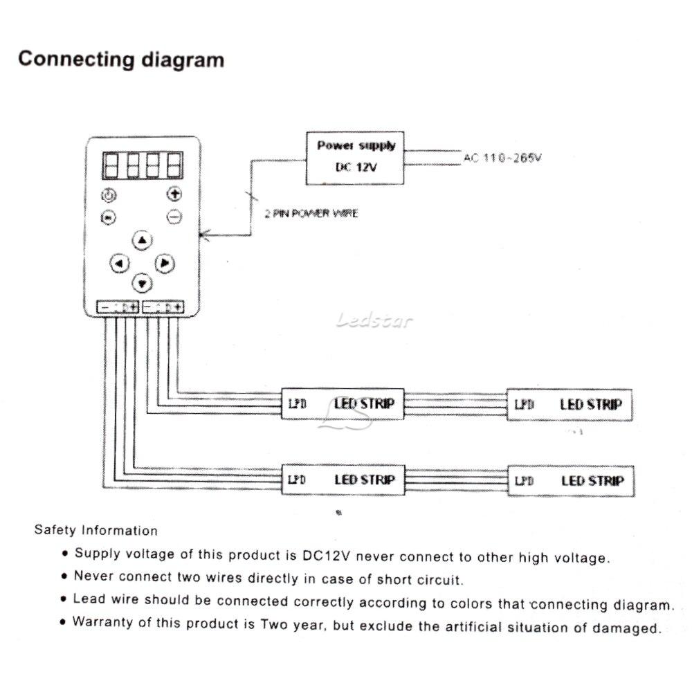 ic 6803 rf led controller 133 program change digital dream magic rh aliexpress com LED Lights LED Wiring Guide