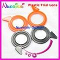 5 pcs direito e esquerdo aro plástico colorido lentes Mineral diâmetro 38 mm para a lente julgamento marcado julgamento quadro XSL frete grátis