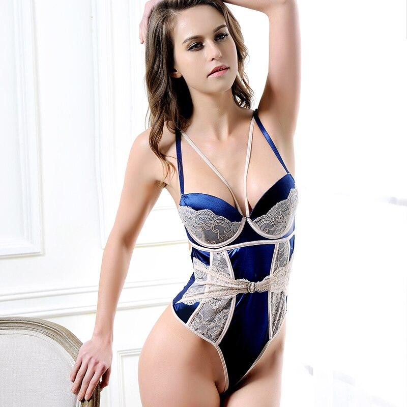 J80188 New arrivals corpo terno azul marinho e lace teddy lingerie atacado  e varejo estilo hot plus size lingerie sexy em Peluches   Bodysuits de  Novidade ... 0924c40f86b