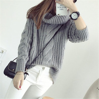 In The Autumn Of 2015 New Korean Knit Shawl Collar Sweater Knitting Dress Color Women S