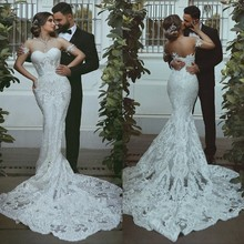 babyonlinedress Sleeveless Mermaid Wedding Dresses Backless