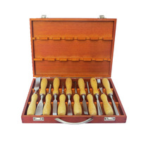 12pcs/set 6/12/13/14/16/17mm Hand Wood Carving Set Wood Working Tools Chisel Kit Carvers Graving Knife In Box chisel Hand Tools