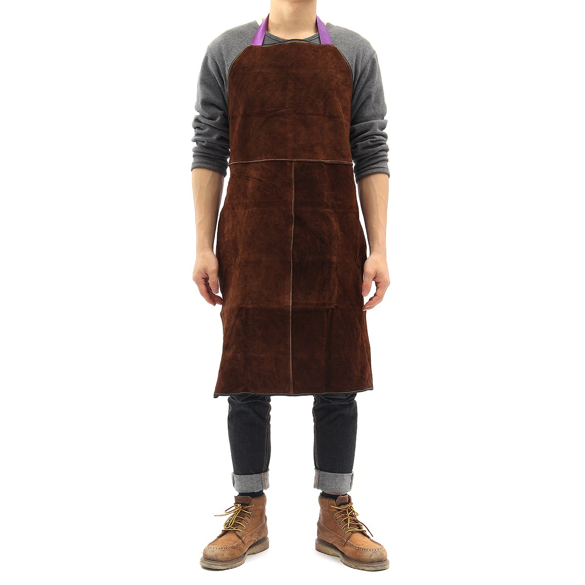 New Safurance Welding Equipment Welder Heat Insulation Protection Cow Leather Apron 60x90cm Workplace Safety Activating Blood Circulation And Strengthening Sinews And Bones Safety Clothing