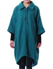 2014 Новый Плюс Размер Форме Крыла Летучей Мыши Топы Пальто Длинный Утолщаются Блузка Женщины Вниз & Парки Aolo-463
