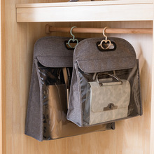 Non-woven Leather Dust-proof Bag Wardrobe Handbag Finishing Moisture-proof Transparent Men Women Storage bag