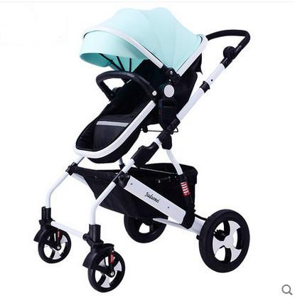 Carrinho de criança pode sentar-se pode mentir suspensão do portátil dobrável bb verão alta paisagem pram do bebê carrinho