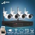 Anran kit hd 720 p 4ch nvr sistema de cctv sem fio ir ao ar livre Night Vision H.264 Câmera IP WI-FI De Vigilância de Vídeo de Segurança 1 TB HDD