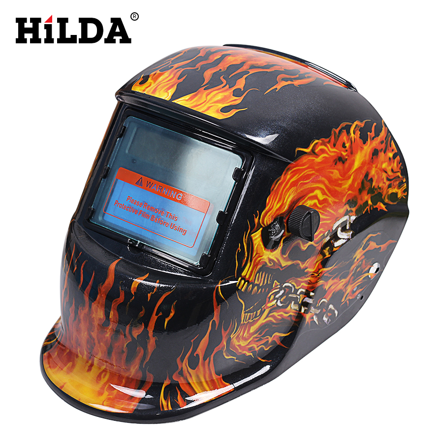 HILDA Solar Auto Darkening MIG MMA Electric Welding Mask/Helmet/Welder Cap/Welding Lens For Welding Machine Helmets цены