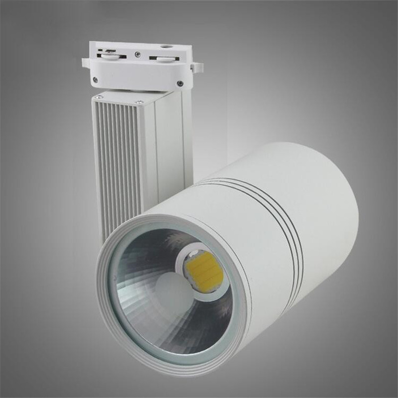 led track light 30w ac85 265v track lighting retail spot wall lamp