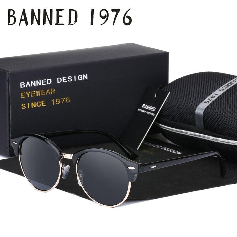 BANNED 1976 HD Polarized Sunglasses Men women Sun Glasses