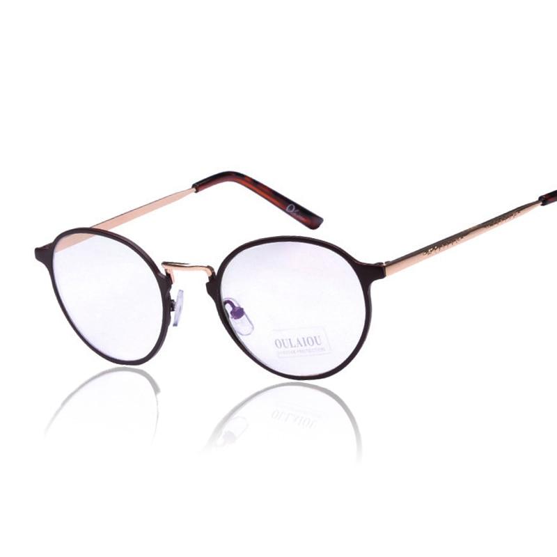 e11aa56667b35f Cadre lunettes Oliver Peoples Vente Chaude Alliage Lunettes Plat Miroir En  Métal Plein Cadre Nouveau 2017 Boîte Ronde Rétro Lunettes Lunettes
