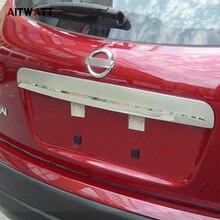 Esterno Baule Posteriore del Coperchio Della Copertura Per Nissan Qashqai Dualis 2007-2013 ABS Chrome Trim Portellone posteriore Protector Trim Senza foro AITWATT