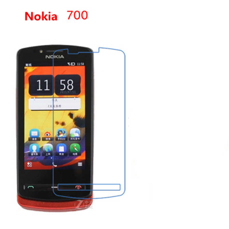 5 Pcs Ultra Thin Clear HD LCD Screen Guard Protector Film With Cleaning Cloth For Nokia 700.