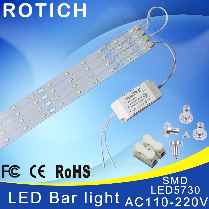41cm 220V High Brightness 5730 LED Bar Lights LED Tube,Ceiling Lamp LED Light Source,with Power Driver + Magnetic Holder.
