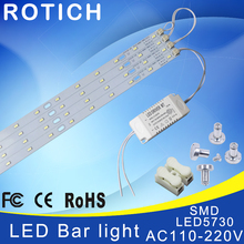 41cm 220V High Brightness 5730 LED Bar Lights LED Tube,Ceiling Lamp LED Light Source,with Power Driver + Magnetic Holder. стоимость
