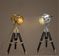 creative brief silver/chrome iron table lamp for office reading room vintage decor desk light A62