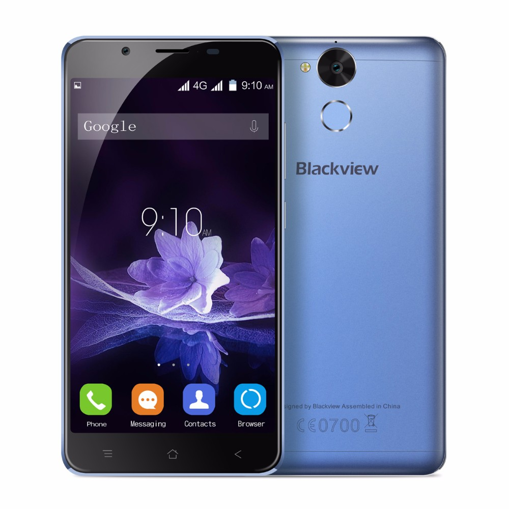 New Blackview P2 Lite 4G LTE Mobile Phones 5.5″ FHD MTK6753 Octa Core Android 6.0 3GB RAM 32GB ROM 13MP Camera Fingerprint ID