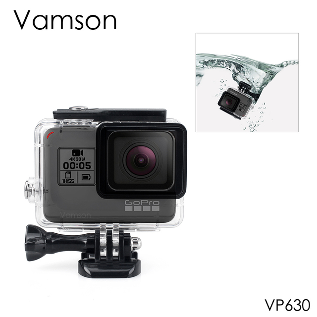 Vamson for Gopro Hero 7 6 5 Accessories Waterproof Protection Housing Case Diving 45M Protective For Gopro Hero 6 5 Camera VP630