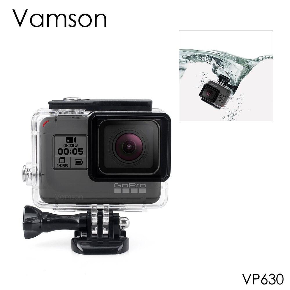 Vamson para Gopro Hero 6 5 accesorios protección impermeable vivienda caso DE BUCEO 45 m protección para Gopro Hero 6 5 cámara VP630