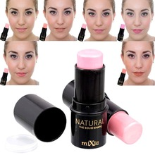 1PC Professional Makeup V FACE Shimmer Blush stick Cream Highlighter Water Felling Plant Extract Blusher stick A2