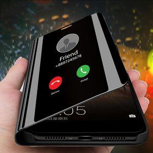 Image 1 - Funda de teléfono transparente con tapa para sony xperia XZ 3 XZ4, carcasa completa de cuero con espejo para sony xperia XZ 3 XZ 4