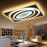 Artistic Personality Planet Ultra thin LED Acrylic Ceiling Light Home LED Dimmable Horizontal Adjustable Ceiling lamps 90 260V