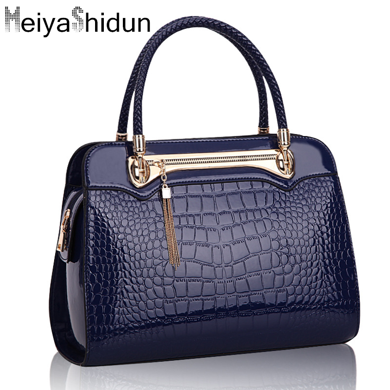 MeiyaShidun Luxury Alligator women bag leather handbags Women crocodile tote Sac messenger bags tassel shoulder bags bolso mujer women canvas stripe tote bags casual shopping bags simple shoulder bags lady handtassen sac bandouliere bolso mujer clutch