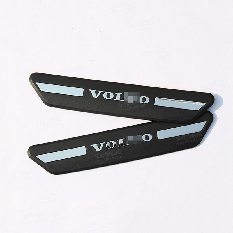 Car Accessories Fit For Volvo XC60 2014 2015 2016 ABS Plastic Black Rear Door Sill Protector Pedal Scuff Plate Cover Trims 2Pcs