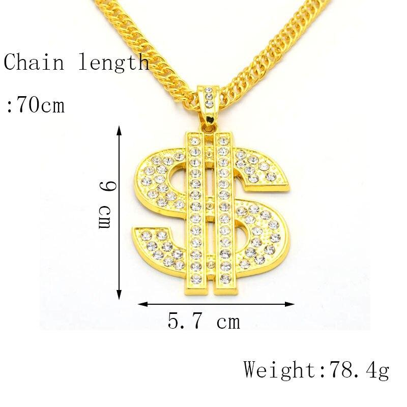 Хип-хоп ювелирные изделия Модные золотые длинные цепочки ожерелья для женщин и мужчин персонализированные буквы Орел молитвенный знак карта кулон ожерелье - Окраска металла: N022