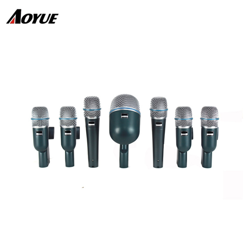 aoyue hot sale 7 sets guitar drum instrument mic handheld drum microphone set in amplifier from. Black Bedroom Furniture Sets. Home Design Ideas