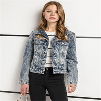 The New Woman Leopard Designs Embroidered Jackets Short Sleeve Women S Jackets In Europe And America