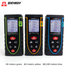 SNDWAY Laser Distance Meter 40M 60M 80M 100M Rangefinder Trena Laser Tape Range Finder Build Measure Distance Ruler Test Tool цена в Москве и Питере