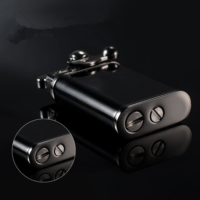 Купить с кэшбэком 2018 New Men Gadgets Lighter Retro Oil Lighter Gas Grinding Wheel Cigarettes Metal Bar Lighters Pure Copper Cigarette Accessorie