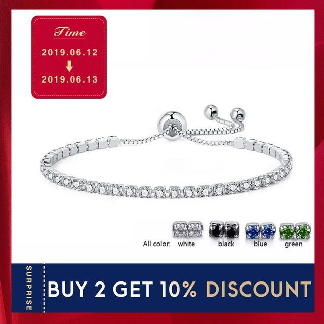 UMODE 4 Colors Fashion Cubic Zirconia Tennis Bracelet & Bangles For Women Gifts New Luxury  Armbanden Voor Vrouwen Bijoux UB0124