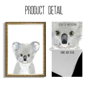 Image 4 - Cartoon Fox Koala Deer Rabbit Squirrel Wall Art Canvas Painting Nordic Posters And Prints Nursery Wall Pictures Kids Room Decor