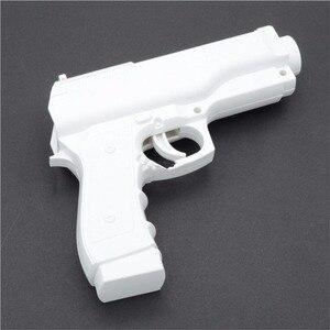 Image 4 - 2 x pistola de luz para disparar, videojuegos deportivos, una mano, controlador de arma para juegos de controlador de accesorios remotos Nintend Wii