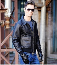 C&C Market.EMS Brand cool mens quality Jackets soft nature 100% genuine cow Leather jacket.coat,sales.motor US