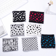 fashion bandanna  cashmere childrens pocket scarf bib Short cute star plush thick winter