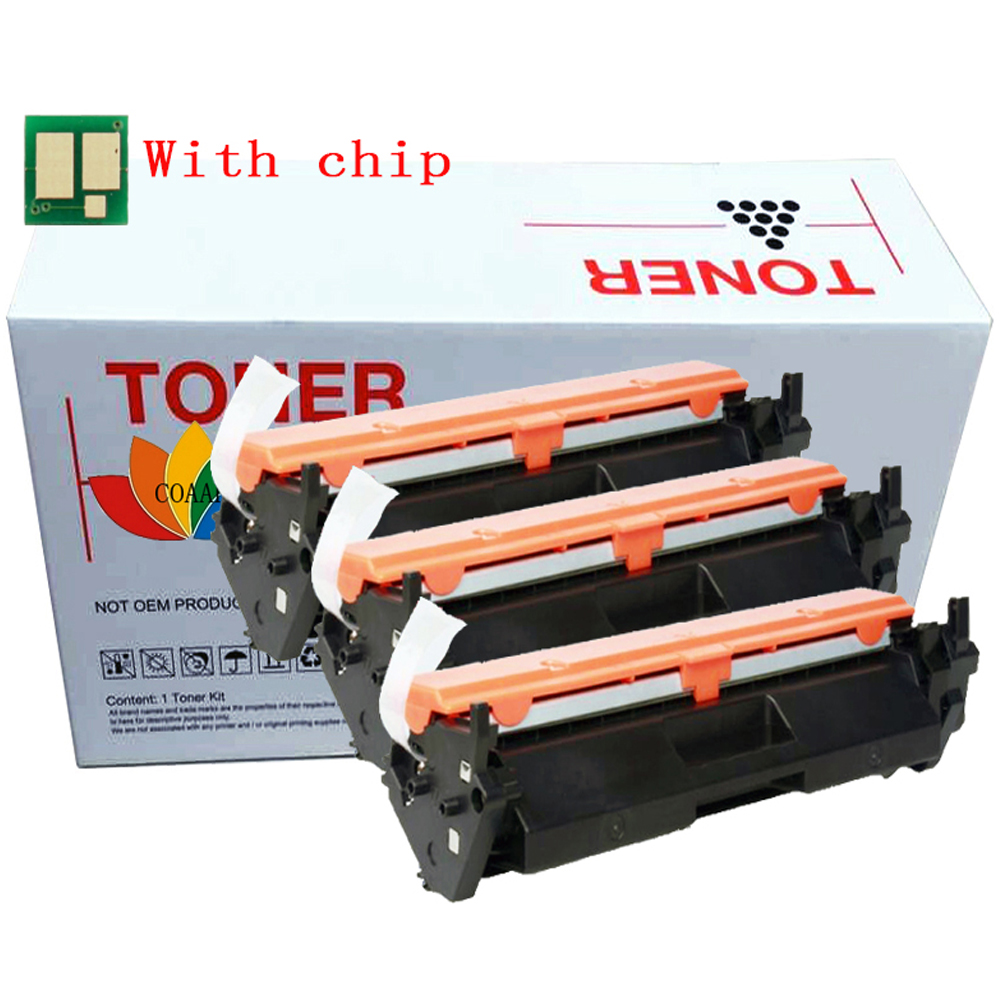3 Pack Black cf217a <font><b>17a</b></font> 217a Replacement toner cartridge for <font><b>hp</b></font> m102a m102W m130a m130fn m130nw m130 Printer series (with <font><b>chip</b></font>) image