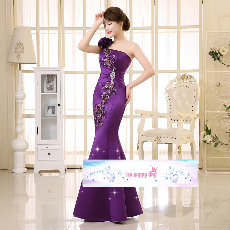cededf2d4a ヾ(^▽^)ノchinese red dress long mermaid bridesmaid event ...