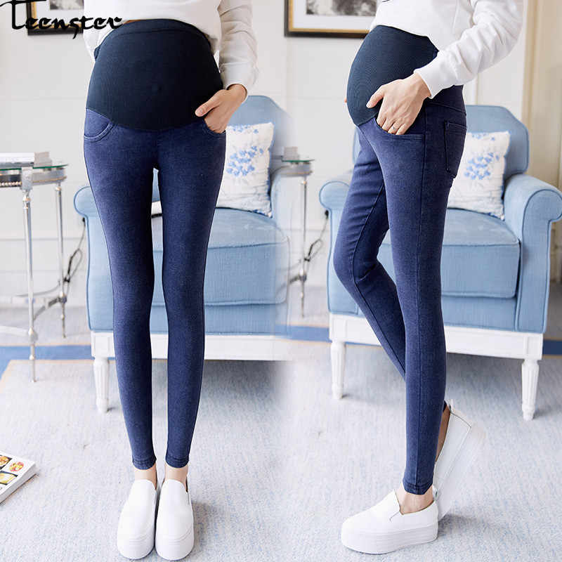 5c6c5b820a0d Teenster Maternity Clothes Pregnancy Pants Autumn Spring Fashion Pregnant  Jeans Elastic Denim Support Bell Premama Trousers