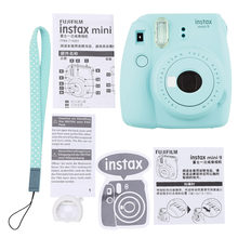 Fuji Fujifilm Instax Mini 9 Instant Film Photo Camera with Selfie Mirror +Wrist Strap+ Close-up Ring Gift Set(China)