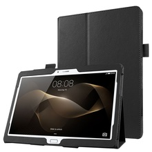 for Huawei MediaPad M 2 10.0 Leather Bag Cover Litchi Skin Leather Stand Case for Huawei MediaPad M2 10.0