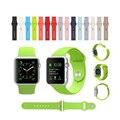 38/42mm doces borracha de silicone original conector integrado esportes casuais cinta faixa de relógio pulseira para apple watch i62. iwatch