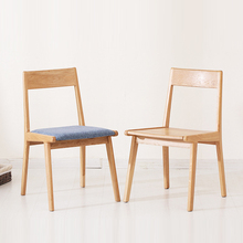 Nordic INS Solid Wood Chinese Fabric Soft Bag Restaurant Dining Chair Lounge Furniture Study Bedroom Oak Back Dining Chair solid wood fabric backrest dining chair simple nordic restaurant low back casual coffee chair washable